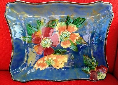 Art Deco Royal Doulton Series Ware Wild Roses Large Tray D6227 Hand Painted !!!