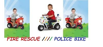 Kids Children 6V Police Bike Motorcycle Electric Scooter Battery Ride-on Toy