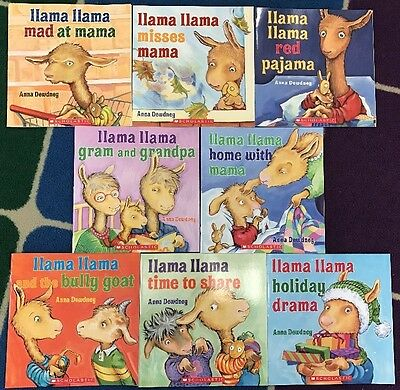 Complete collection of 8 NEW Llama Llama by Anna Dewdney paperback books