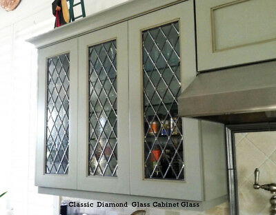Classic  Lead glass Diamond  Cabinet  & Kitchen  door inserts