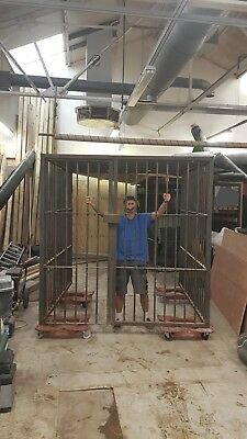 Heavy Duty Walk-In Security Cage, motorbike, tools etc 2.1m x 2.1m x 2.1m cube