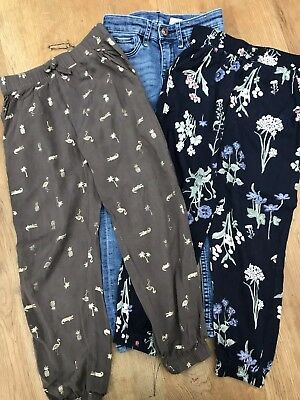 Girls Trousers X3, H&M, Age 4-5 Years. Excellent Condition.