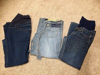 Maternity Jeans Trousers Bundle of 3, Size 8-10