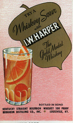 I.W. Harper Gold Medal Whiskey Ink Blotter, Bernheim Distilling Co., Louisville
