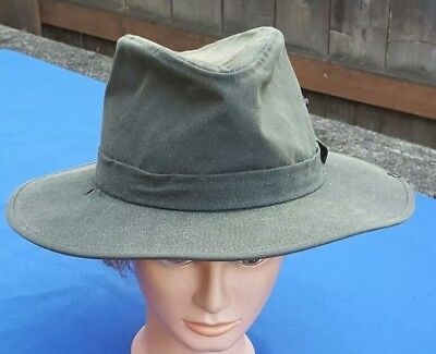 Pendleton Men s Vintage Canvas Greenish Outback Fedora Hat - Size Large 04cc2737addd