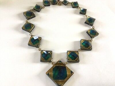 Preowned MMA  Metropolitan Museum of Art Mosaic Statement Necklace #6