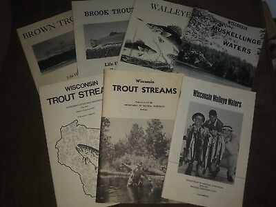 Vintage Wisconsin DNR Fishing Booklets/Pamphlets 1970s-1980s