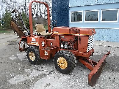 Ditch Witch 3500 Duetz Diesel Trencher  with Backfill Blade