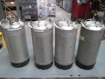 Lot of 4 Alloy Products Stainless Steel Tanks 130 PSI Approx 4 Gal Ea