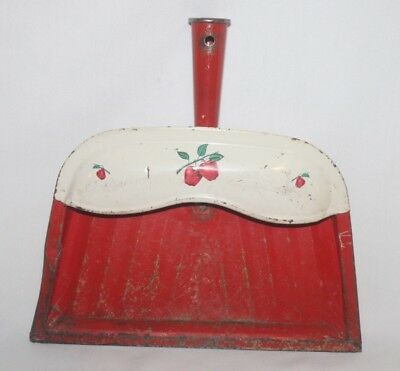 Vintage Red Apples Metal/Tin Dust Pan Country Kitchen Decor