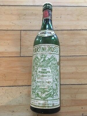 Vintage Rare Martini & Rossi Extra Dry Vermouth Empty Bottle-Collectible