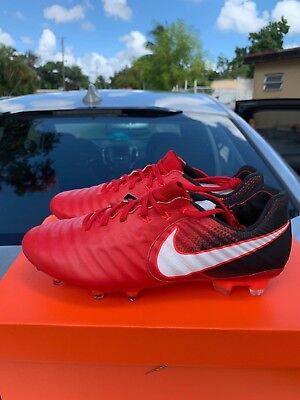 NIKE TIEMPO LEGEND VII 7 FG Leather 897752-616 Fire and Ice Pack Red ... 7132f213921