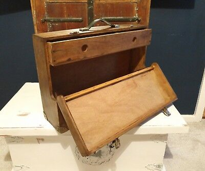 Vintage Antique Wooden Joiner Carpenter Tool Box Drawers Storage Collecti Deco