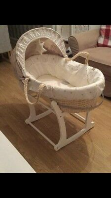 Mamas And Papas Moses Basket With Clair De Lune Stand