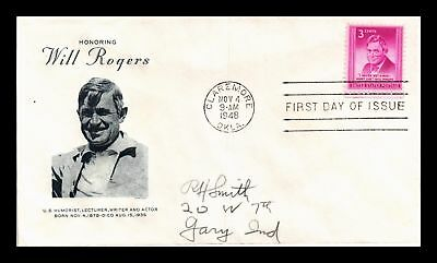 Dr Jim Stamps Us Will Rogers First Day Cover 1948 Grimsland Cachet