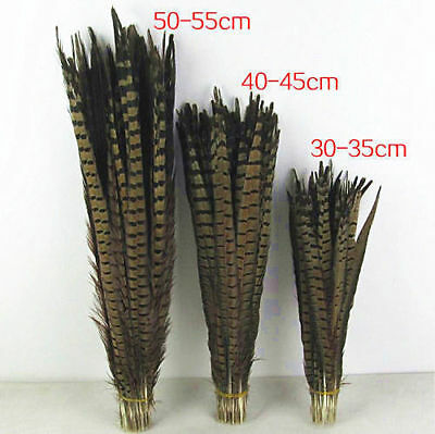 10-100pcs Natural Beautiful Long Pheasant tail feathers 12-22 inches/30-55 cm