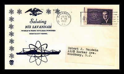 Dr Jim Stamps Us Nuclear Powered Merchant Vessel Ns Savannah Cover 1962
