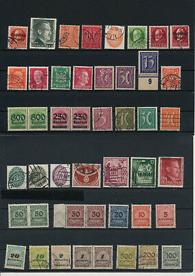 Germany, Deutsches Reich, Nazi, liquidation collection, stamps, Lot,used (DD 46)