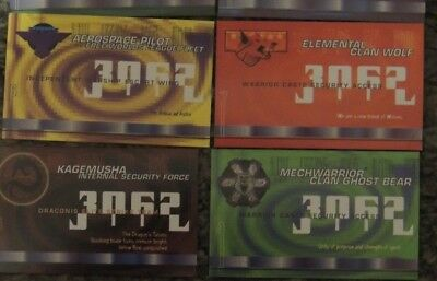 Battletech FASA Collectable Business Cards 2000 Set of 5 Last made by FASA