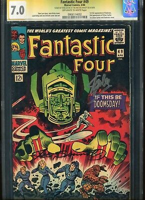 Fantastic four #49 CGC 7.0 Marvel Comics 4/66 Signed by Stan Lee and Joe Sinnot