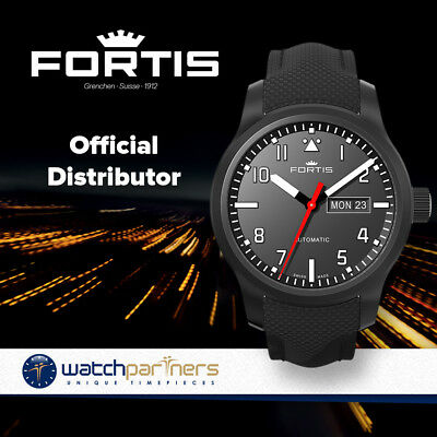 Fortis Aviatis AEROMASTER PROFESSIONAL Automatic Swiss Day/Date watch 655.18.10