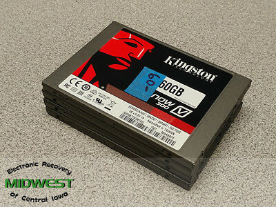"""Lot of 4 Kingston 60GB 2.5"""" Sata Solid State Drives  Wiped and Tested"""