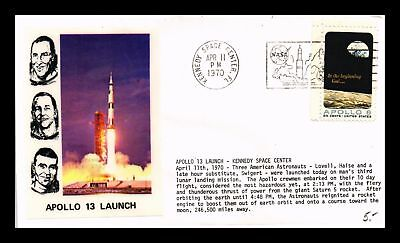 Dr Jim Stamps Us Apollo 13 Launch Event Cover 1970 Kennedy Space Center