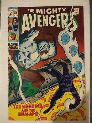 The Avengers #62 - Silver age classic - Fine - Black Panther 1st Man Ape
