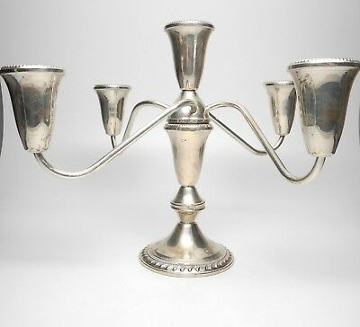 Duchin Creation Weighted Sterling Silver Candelabra 5-Candle Vintage