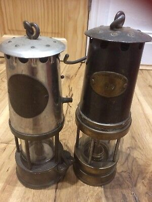 Pair of Vintage Safety Lamps