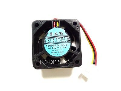 SANYO 109P0424H6D21 060701S  DC24V 0.07A   3 wire cooling Fan