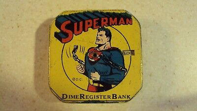 A SUPERMAN DAILY  DIME REGISTER BANK Collectible