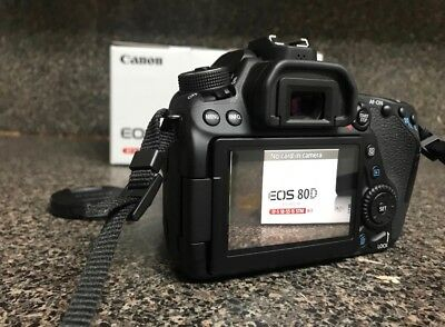 Canon 80D with 18-55mm Zoom Lens f/3.5-5/6 IS STM