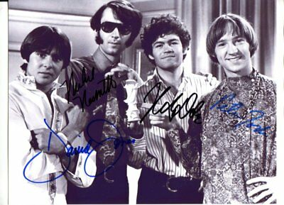 all 4 The Monkees signed autograph NO RESERVE B6457