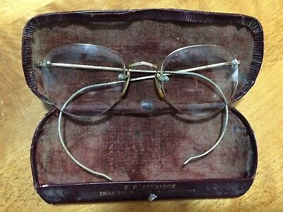 Vintage Bausch & Lomb 1/10 12k GF Semi-Rimmed Spectacles Eye Glasses With Case