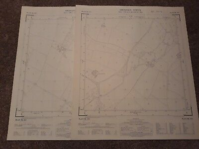 2x orig 1950s vintage OS map TWYCROSS Cliffe House now Rare Ltd Computer Company