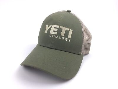 f319a4df4f2 Yeti Cooler Olive Green Embroidered Adjustable Mesh Trucker Hat Cap SnapBack