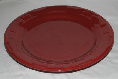 "LONGABERGER Woven Traditions Pottery 10"" Dinner Plate Paprika (Red)~USA!"