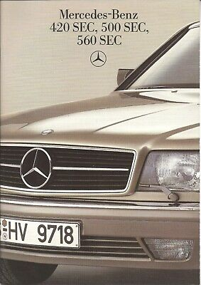1985 Mercedes Benz 420, 500, 560 SEC  brochure, 36 pages, $6 free shipping