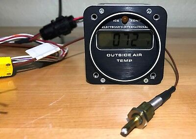 Electronics International A-1 digital OAT outside air temp with probe - nice!