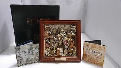 "Harmony Kingdom - Picturesque -""Cats"" Mrs. LILLIPURR'S LODGINGS Plaque/Picture"