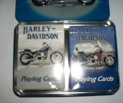 Harley Davidson 2001 2-Deck U.s.a. Playing Cards With Tin.
