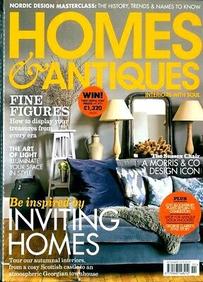 Homes & Antiques Magazine Issue November 2018 With Free Decorating Guide ~ New ~