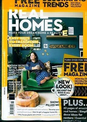 Real Homes Magazine November 2018 With Free Decorating Trends Magazine ~ New ~