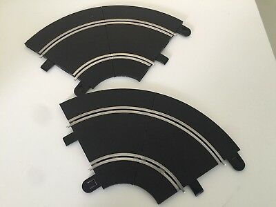 Scalextric Sport C8202 R1 Curves Track Pieces 45 Degrees x4 Barely Used