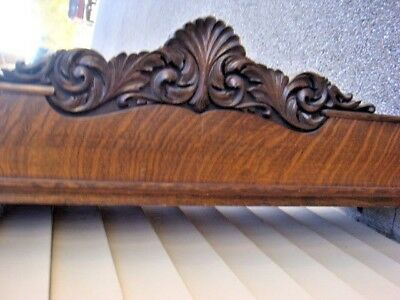 Antique Solid Oak Hand Carved  Flare out TOP for Knock Down Wardrobe TOP ONLY