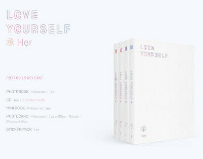 BTS LOVE YOURSELF 承 'HER,' 5th Mini Album Ramdom K POP Music Ship From AU