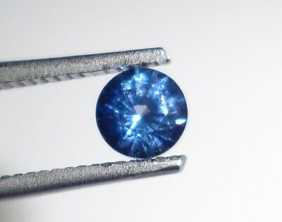 0.50 Ct Natural Blue Sapphire Faceted Gemstone | Round | Certified [0004]