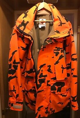 Vintage Columbia Gore-Tex Camo Hunting Jacket Coat Men's Size M - Made in USA