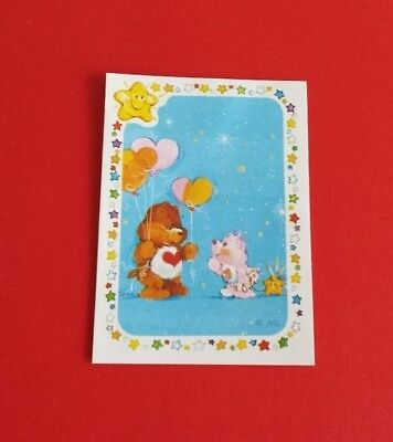 Vintage 1985 Panini Care Bear Tender Heart Sticker #184